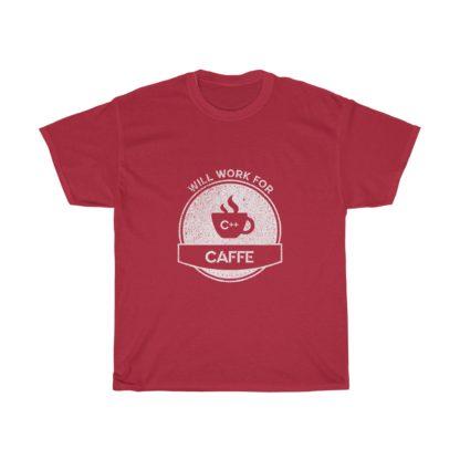 caffe red autonomous car t-shirt