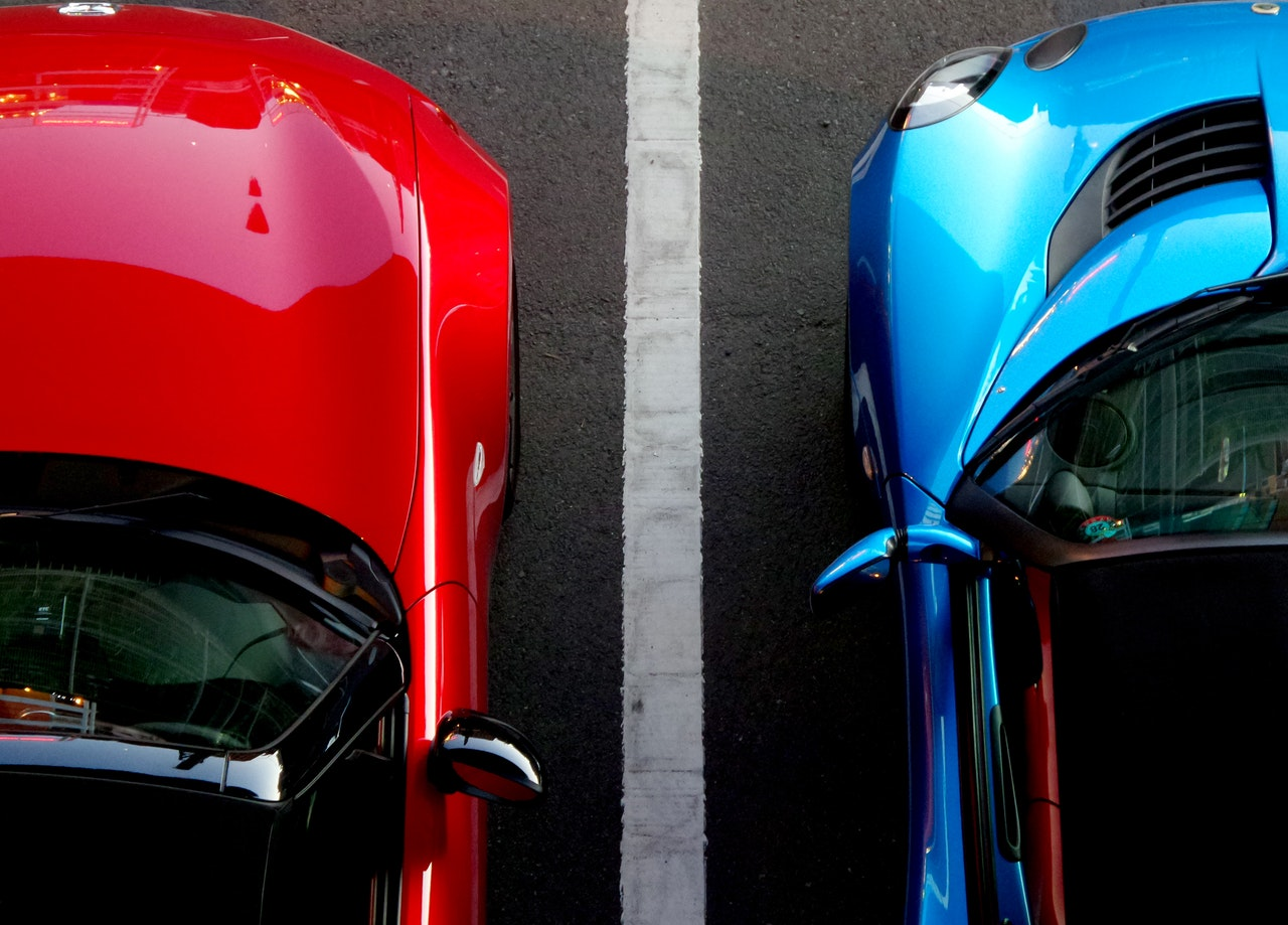 cars parked alongside one another