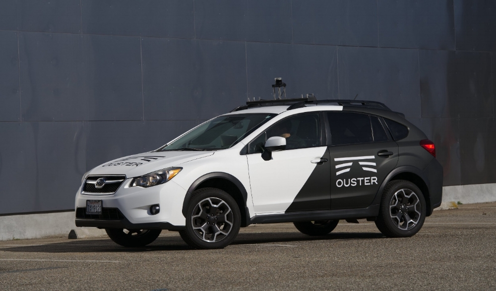ouster os-1 lidar vehicle