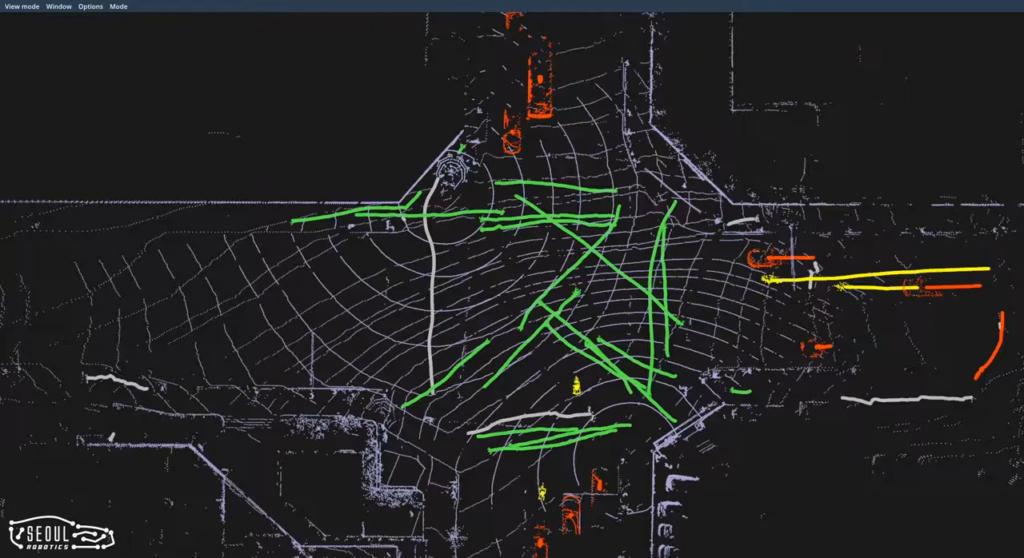 LiDAR and SENSR monitoring traffic in Seoul