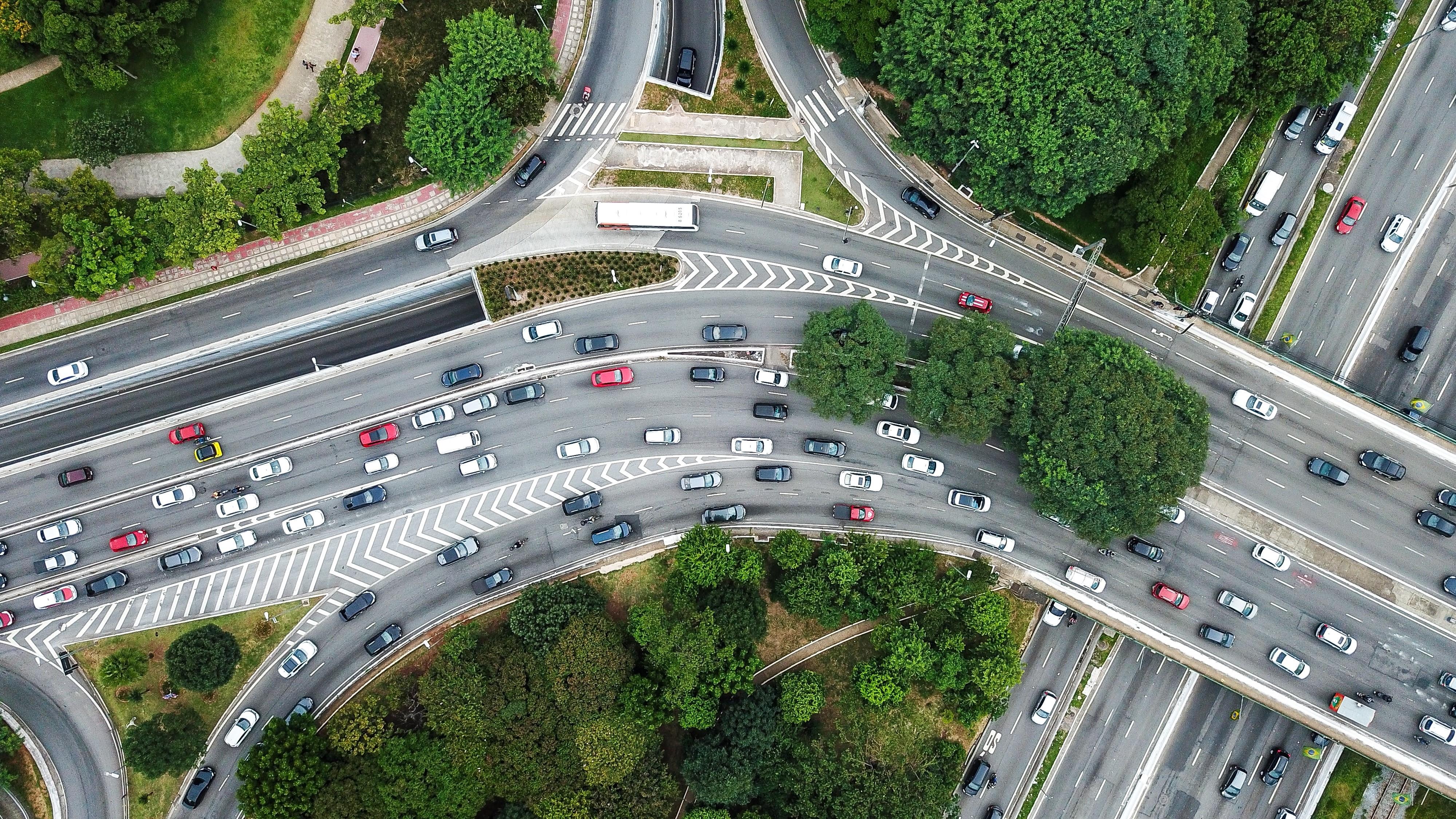 aerial view - traffic