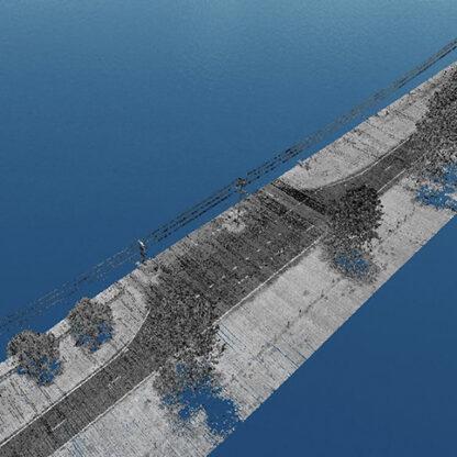 Nextcore RN50 power lines lidar point cloud