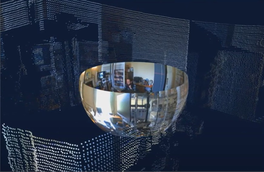 Aspect 3D output combining high resolution point cloud data and spatially precise 360 imagery to create volumetric video
