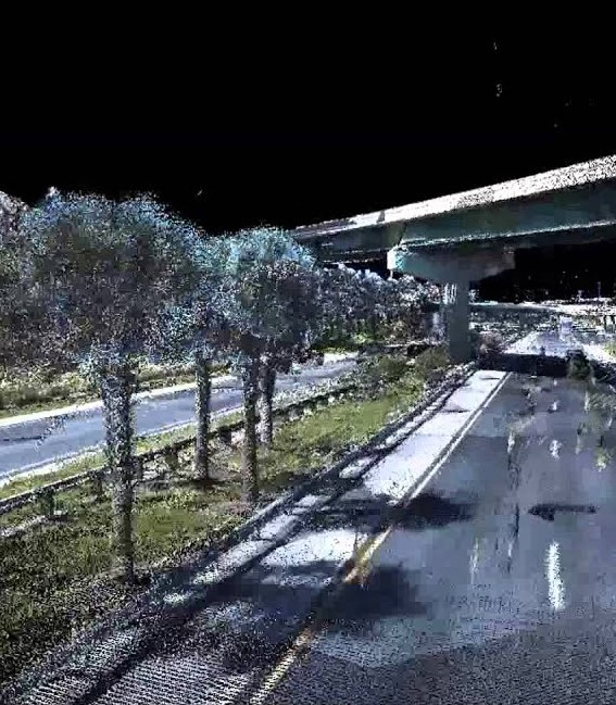A real time capture in colourised lidar