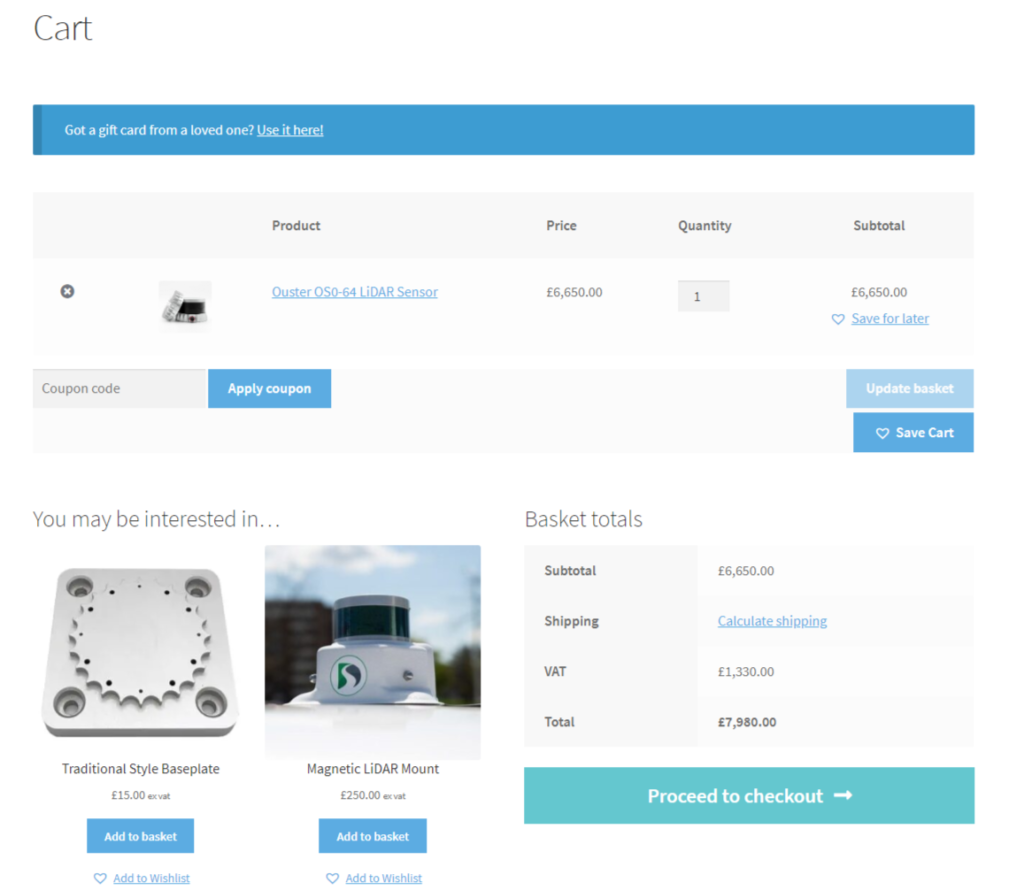 Level Five Supplies online shopping cart