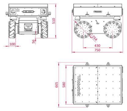 Robotnik Summit-XL STEEL schematics