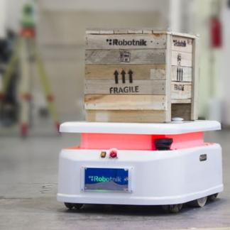 Robotnik RB-2 Base mobile robot for industrial applications in logistics
