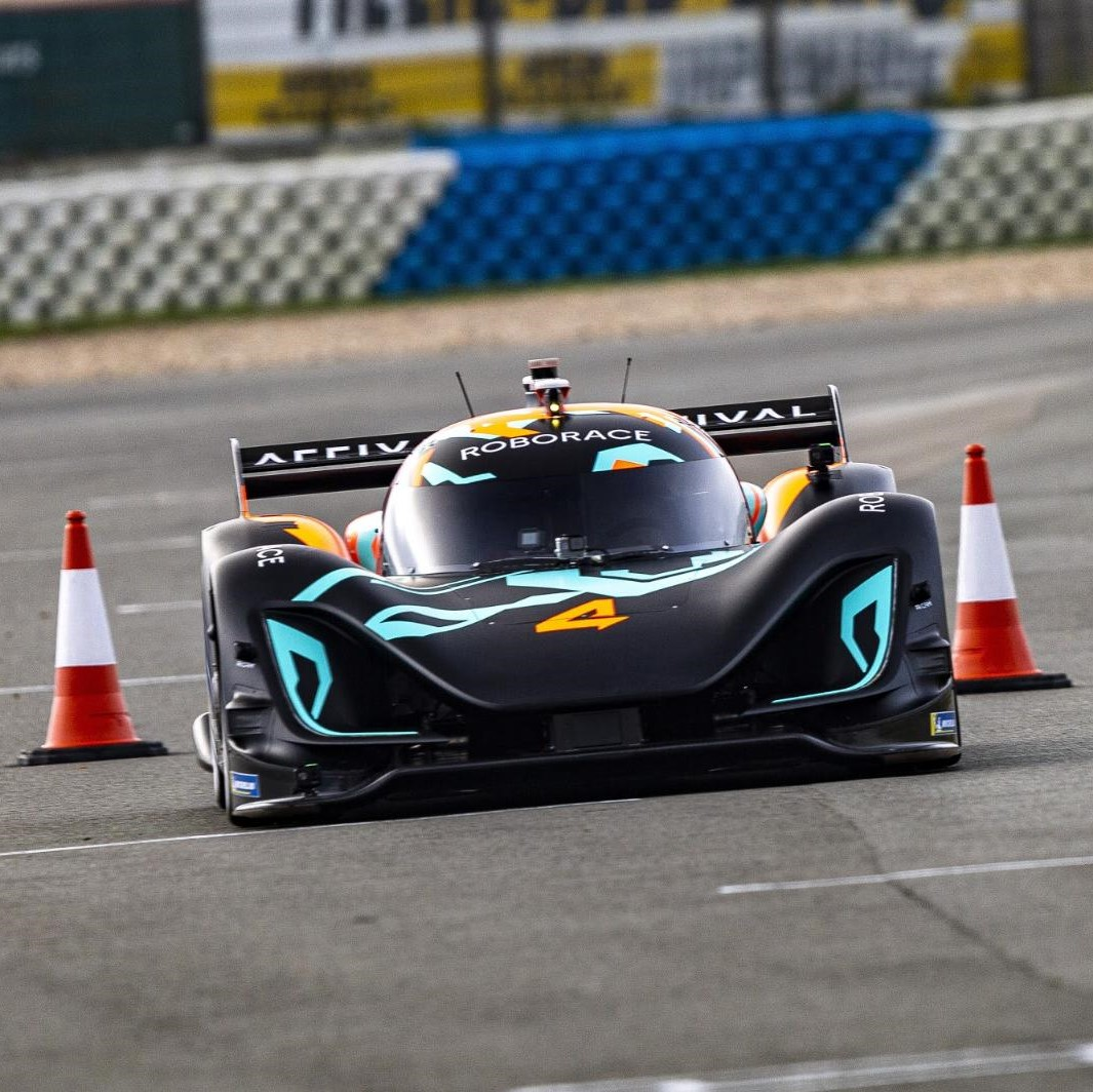 Autonomous car competing in Roborace