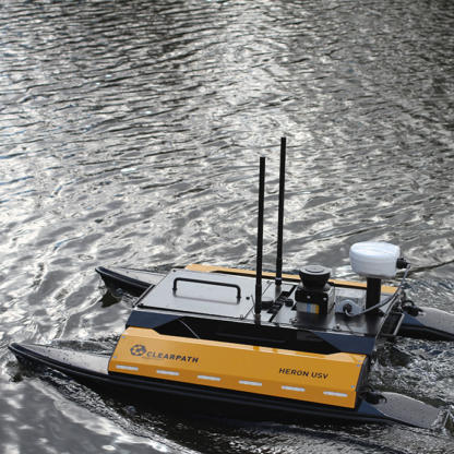 Clearpath Heron with hydrosurvey payloads