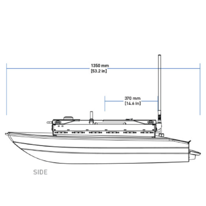 Clearpath Heron USV blueprints side