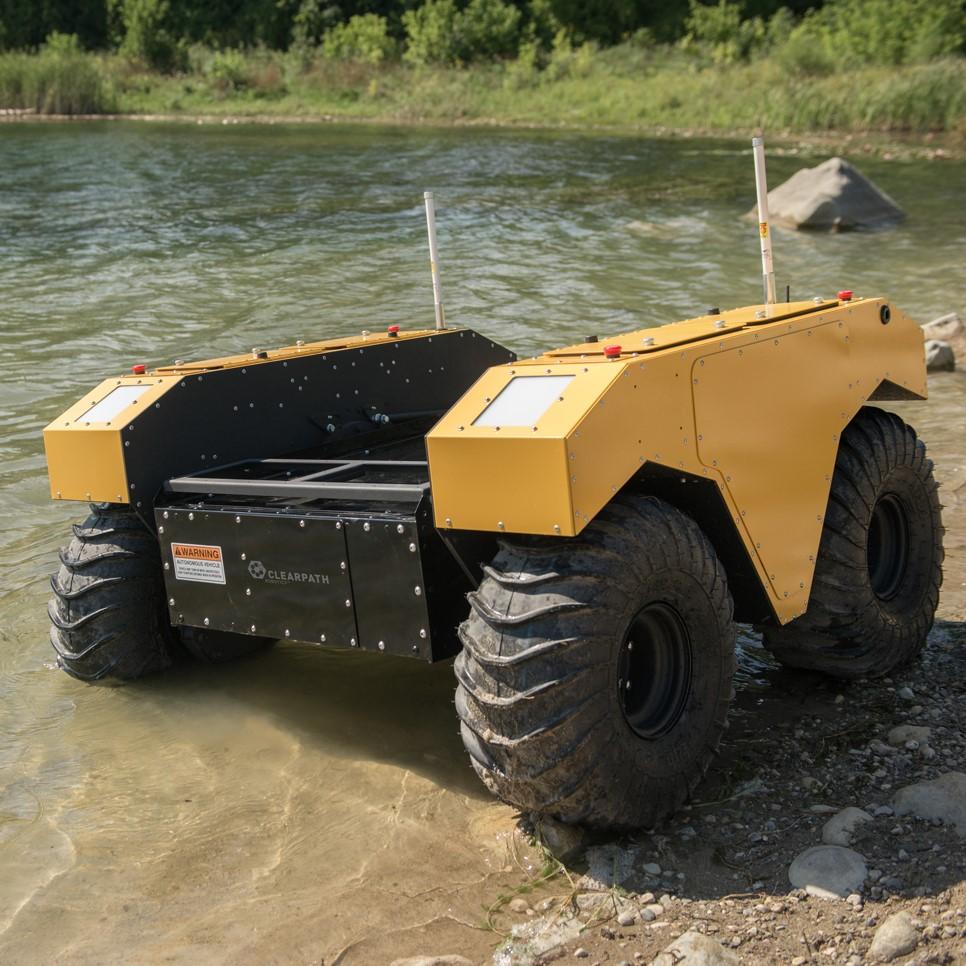 Clearpath Warthog amphibious ugv