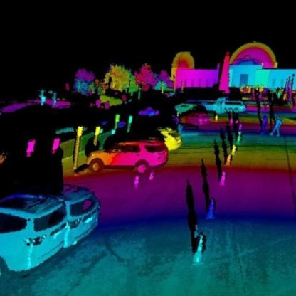 Luminar Hydra LiDAR point cloud