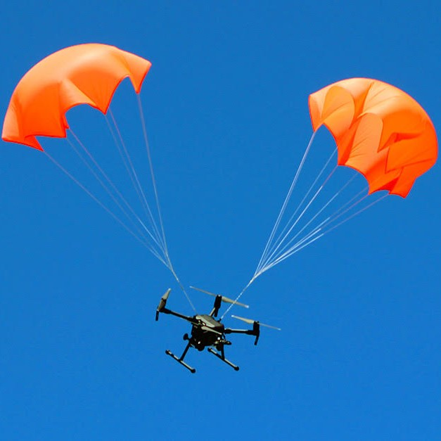 Mars drone parachutes and drone recovery system