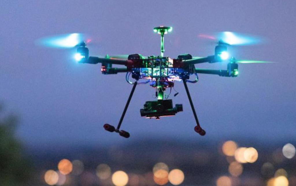 Inspired Flight IF750 flying at night
