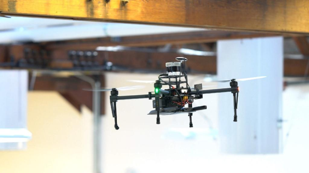 Drone mounted Ouster LiDAR