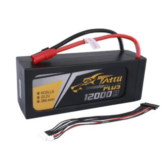 Tattu Plus 12000mAh 22.2V 15C 6S1P Lipo UAV Battery with AS150+XT150 plug