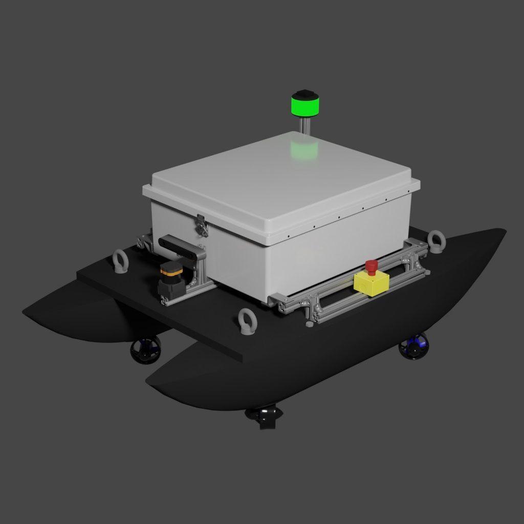 RoboBoat 2020 Heron USV render in Blender