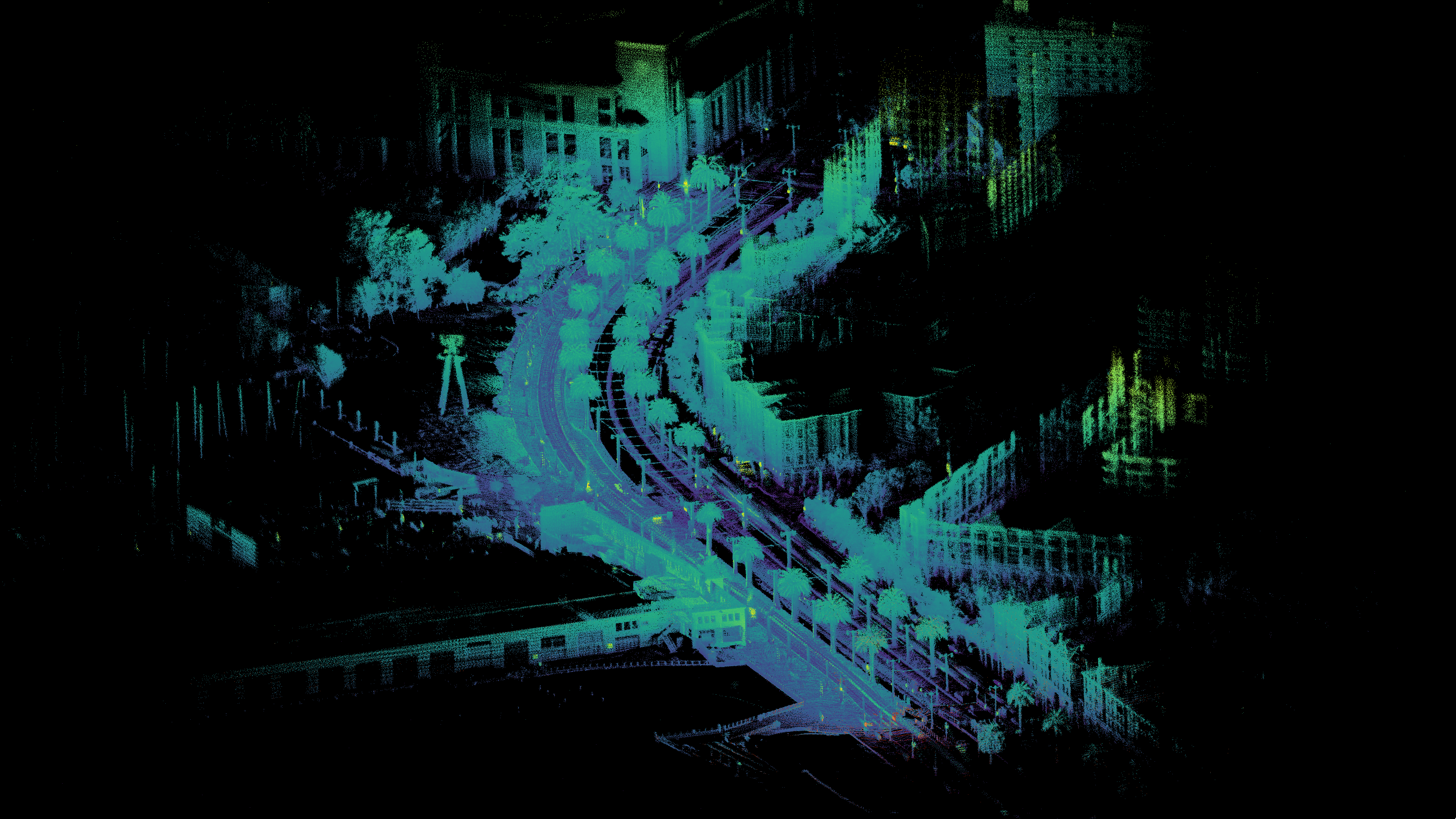 Ouster Lidar point cloud of Embarcadero San Francisco