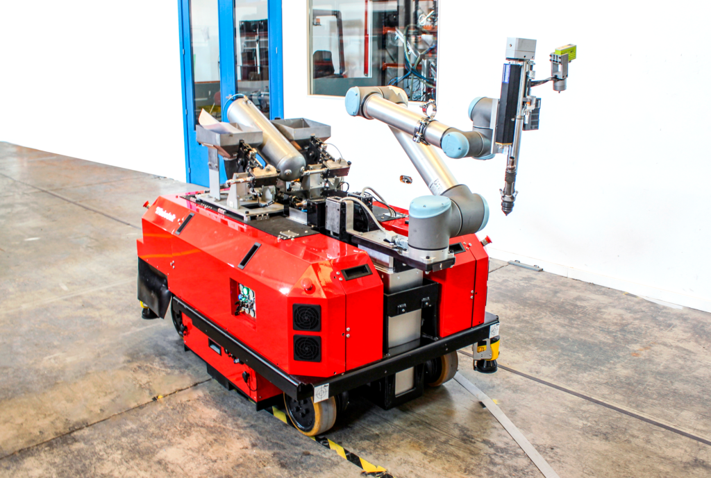 Robotnik RB-VULCANO BASE robust mobile robot for industry