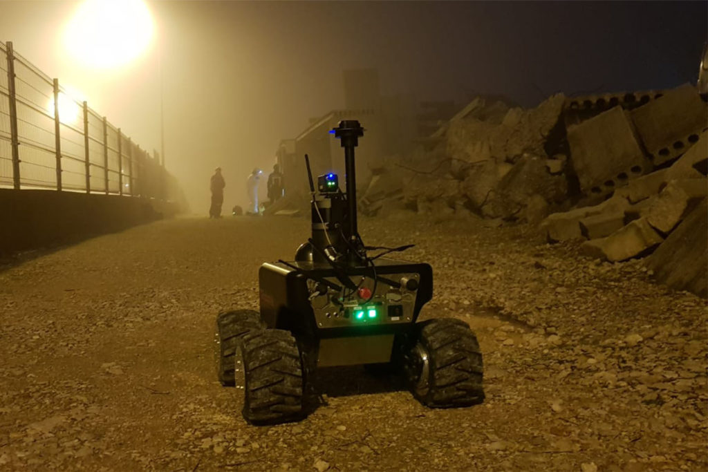 Robotnik Summit-XL mobile robot used in disaster relief