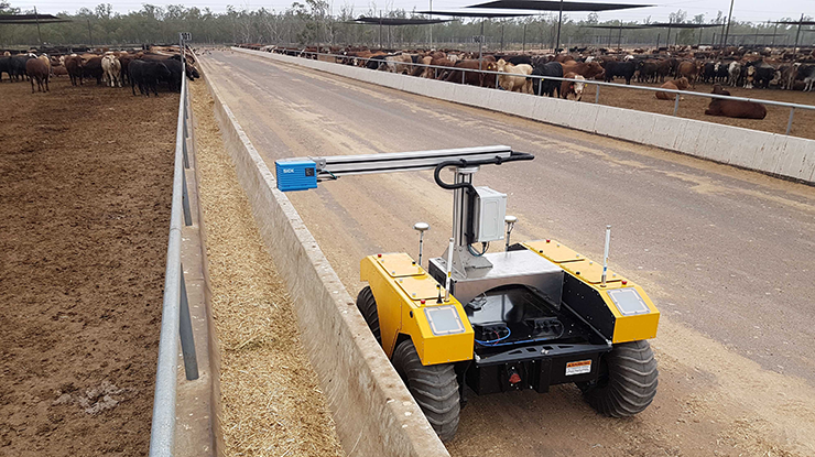 BunkBot combines Bunk Scanner with Clearpath Robotics' rugged Warthog UGV illustrating agricultural uses of robots