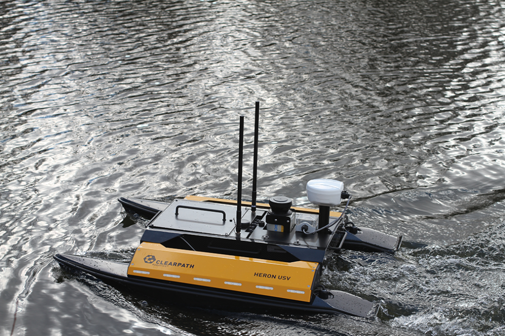 Heron USV is a solution for conducting research in aquatic environments