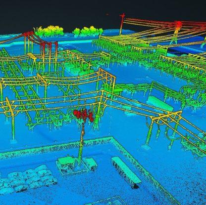 LiDAR pointcloud of a power station captures by RESEPI