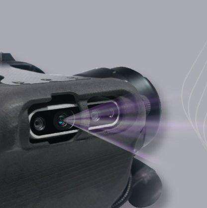 A1 quadruped robot has a multi eye intelligent depth camera
