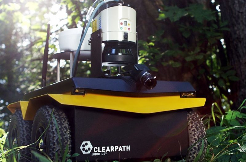 Clearpath Jackal UGV equipped with a range of sensors