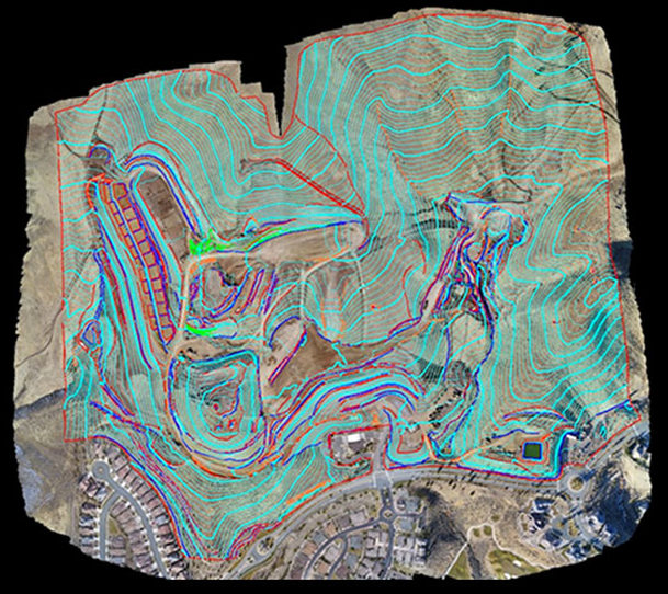 Drones are used to map construction sites
