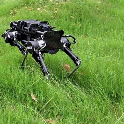 Laikago quadruped robot can handle rough terrain with ease