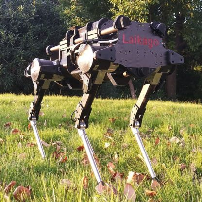 Laikago robot dog has a high payload capacity of up to 14 kg