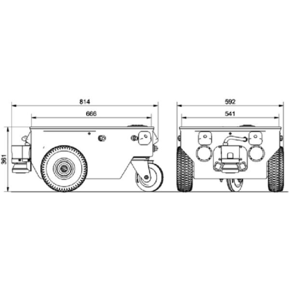 Neobotix MP-500 mobile robot technical drawings