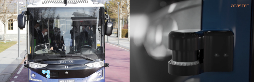 ATAK electric bus equipped with Ouster LiDAR